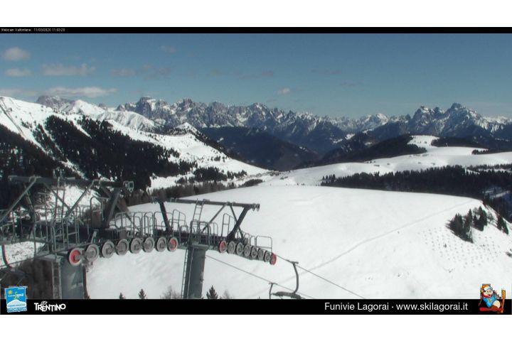 Webcam Monte Agaro - Lagorai, Passo Brocon