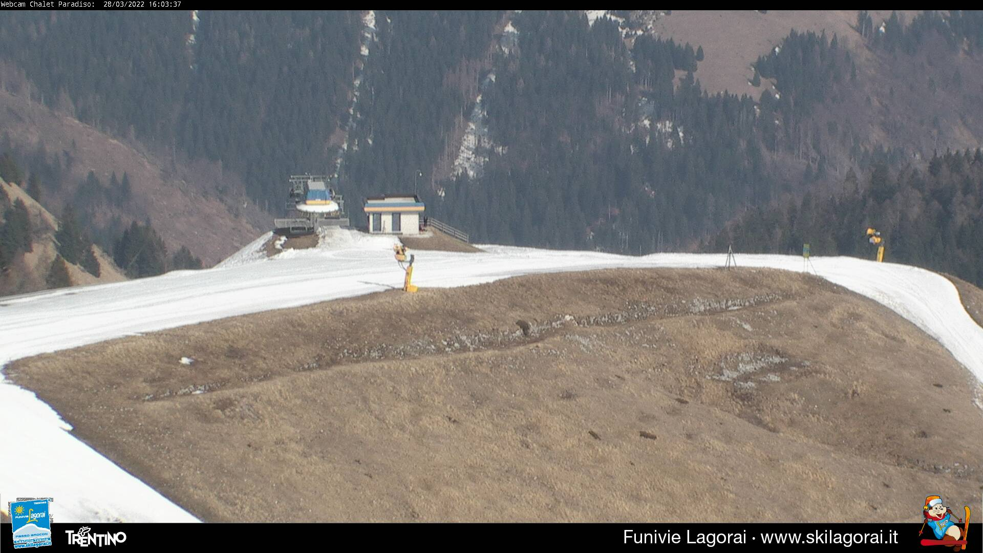 Webcam incrcio fra piste Matusa, Paradiso e Valfontane