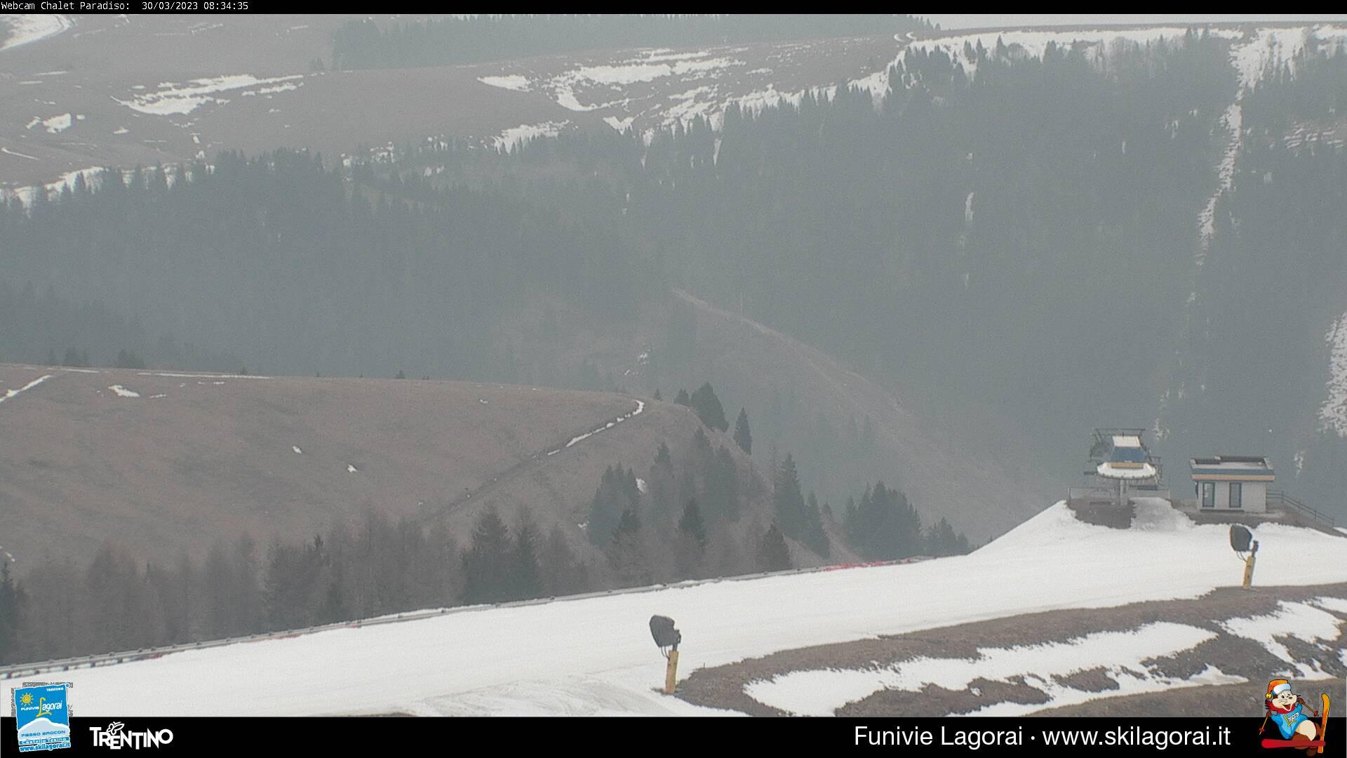 Webcam Lagorai - Passo Passo Brocon Pista Paradiso