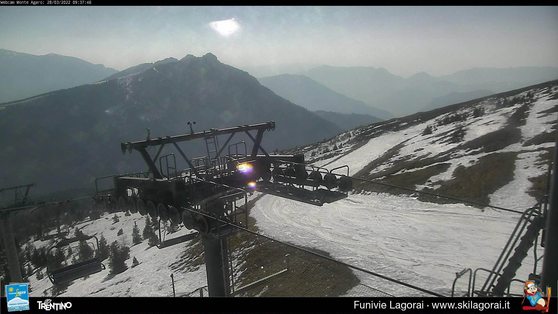 Webcam Seggiovia Larese' da Monte Agaro