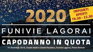 Capodanno in quota 2020 Funivie Lagorai