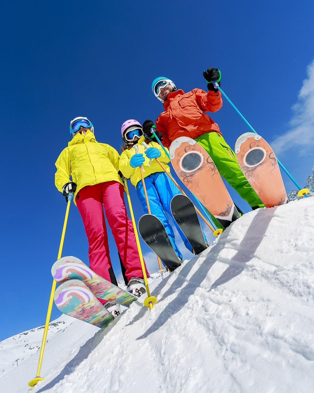 famiglia sci